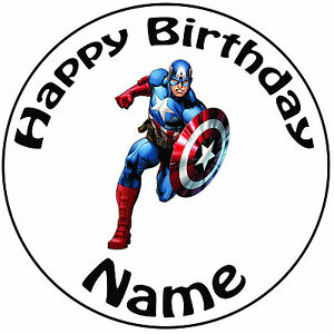 Personalised Birthday Captain America Round 8