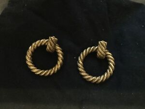 Vintage Chanel Hoop Earrings Clip
