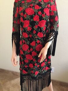 NWT DOLCE&GABBANA Jeweled Buttons Embroidered Dress IT38