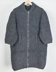 BALENCIAGA Big Over Size Knit Coat Size 34 Ladies Fashion Made in Italy Y58