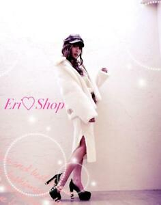 Datura High Class Limited Set White Fur Coat Knit Outer Ladies Luxury M03A