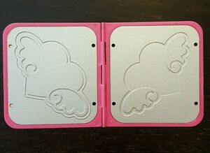 Sizzix Sizzlits Hello Kitty Heart wWings Cutting Embossing Folder Die Rare