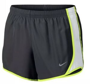 Nike Girls Dry Tempo Running Shorts Size Extra Large Grey Neon Green $18.00
