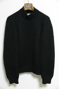 MARTIN MARGIELA 1998AW FLAT Knit Sweater Ladies Size L Black Made in Italy Y74
