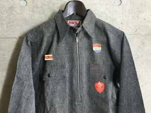 UNCLE SAM Vintage Black Jamper jacket Shirt Size 15 Men's 1930-40's Y82
