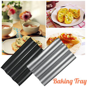 US Wave French Bread Baking Tray Baguette Baking Mould Non Stick Cake Mold Tools