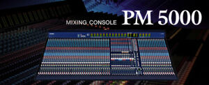 Yamaha PM5000 56 input Console with Road Case  EXCELLENT SHAPE