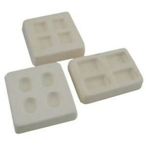 FUSEWORKS REUSABLE FUSING CASTING FRIT MOLD SET OF 3 ROUND SQAURE RECTANGLE
