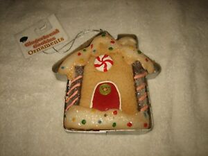 🎅🎄😊 NEW WITH TAG GINGERBREAD COOKIE CUTTER CHRISTMAS TREE ORNAMENT 🎅🎄
