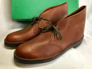 CLARKS Vintage Short Boots Dark Brown Leather Shoes Deadstock size 8 12 Y82