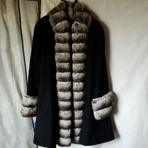 Cashmere Fur Coat Free Size From Specialized Shop in a Hotel Tokyo Ladies M03