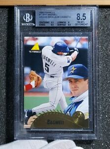 Jeff BAGWELL & Jose CANSECO on SAME CARD 11 ERROR -1995 Pinnacle BGS 8.5+ POP 1