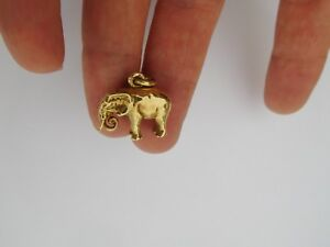 Authentic Original Faberge 14K 56 Gold August Holmström Elephant Pendant Charm !