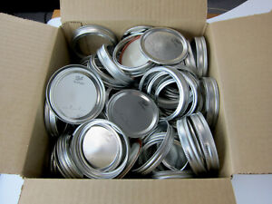 Ball Mason Jar Wide Mouth Lids and Bands 100 each for Mason Jars Bulk