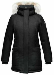 Nobis Ladies Parka Carla-Crosshatch Black