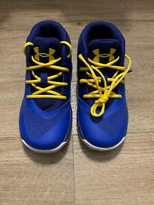 TODDLER UNDER ARMOUR SC30 CURRY 3 BLUE TAXI 1276276 400 SIZE 8K $44.99