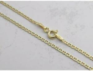 14K Solid Yellow Gold Chain Mariner Gucci Necklace 16