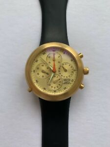 IKEPOD HEMIPODE CHRONOGRAPH 18ct SOLID YELLOW GOLD GMT MARC NEWSON DESIGN