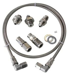 STAINLESS STEEL UNIVERSAL TURBO OIL OR WATER LINE KIT AF30-1004 1 METER LONG