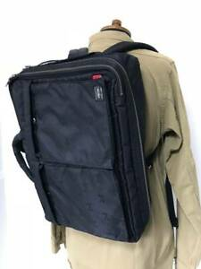 Porter WTAPS Men's Backpack Black Cross Bone Bag Brief Case Unisex Y08A