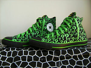THE RIDDLER CONVERSE BATMAN DC COMICS SHOES SIZE 9.5 (FITS 10) - EXTREMELY RARE