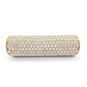 New Genuine Story Sterling Silver G P Pave CZ set tube charm 5208466 RRP £179.00 GBP 89.50