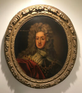 Fine Antique 17th Century Oil Painting Portrait on Canvas of King William 3rd