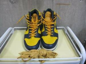 NIKE VIntage Sneakers Shoes Navy × Yellow Men's Size US 9 12 Fashion Y107