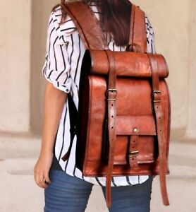 NEW Women Backpack Travel Genuine Leather Laptop Rucksack Shoulder School Bag