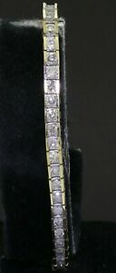 14K gold elegant high fashion 5.60CT diamond tennis bracelet