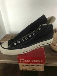 CONVERS Chuck Taylor With Red Box Sneakers Deadstock Early1980's Size 10 12