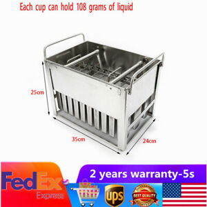 30PCS Stainless Steel Molds Mold Ice Pop Lolly Popsicle Ice Cream Stick Holder.