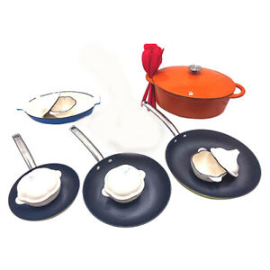Le Chef 19-Piece Enameled Cast Iron Cookware Set. (Multi-Colored, OR4.)