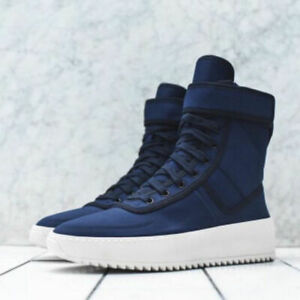 KITH x Fear Of God Collaboration Military Sneaker Navy Blue Limited Edition C08