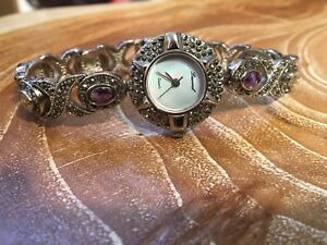 Lucoral Gemstone Bracelet Watch #188 -With New Battery