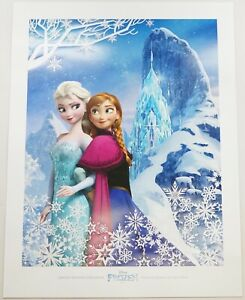 New Disney Parks Frozen Anna And Elsa Limited Release Lithograph Fine Art Print