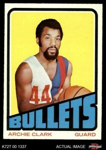 1972 Topps #120 Archie Clark  Bullets (Wizards) EX/MT