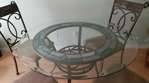 Ashley Furniture Round Glass Table amp; Chairs $240.00