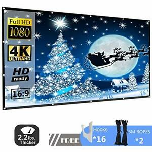 120 Inch Projection Screens 169 HD Projector Screen P-JING Portable Widescreen