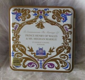 Royal Wedding Prince Harry and Meghan Markle Unopened Commemorative Biscuit Tin