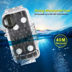 For HUAWEI P20P20 Pro 40M Waterproof Underwater Diving Housing Cover Photo Case