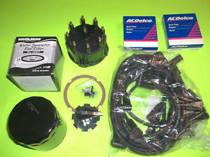 TUNE UP KIT WIRES CAP ROTOR spark PLUGS OIL FUEL FILTER mercruiser 5.0 5.7 7.4 $120.00
