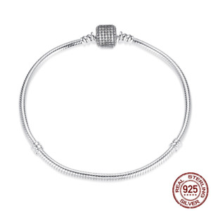 2019 Women Fashion Bracelet Authentic 925 Sterling Silver Pave CZ Charm Bracelet