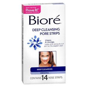 Biore Deep Cleansing Pore Strips - 14 ea (Pack of 24)
