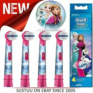 Oral-B StagesPower Replacement Toothbrush Heads(Pack of 4)│Kids Frozen Character