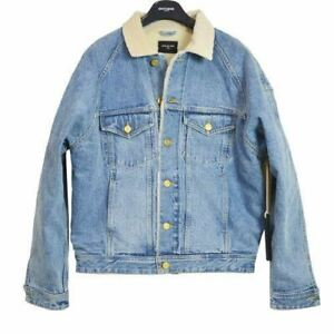 FEAR OF GOD Selvedge Denim Alpaca Trucker Jacket Vintage Indigo size M