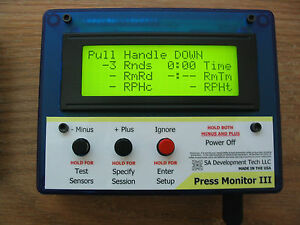Press Monitor III for Dillon 550 650 Hornady Counter Statistics (Blue Manual)