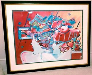 PETER MAX - LES MONDRIAN LADIES - SIGNED NUMBERED SERIGRAPH - MUSEUM FRAMED