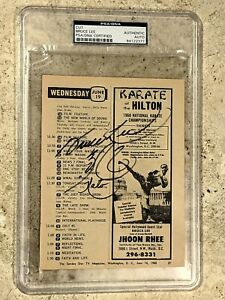 1968 TV Guide BRUCE LEE 3X TRIPLE DRAGON Autograph JKD AU RC! w Kato PSA 10 11