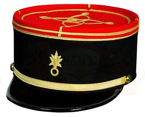 French Military Kepi France Army Embroidery Cap Officer Peak Embroidered Hat
